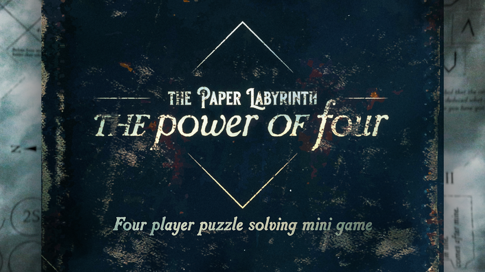 The Paper Labyrinth : The Power of Four (Mini Game)