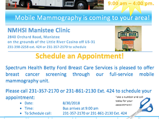 Mobile Mammography in Manistee
