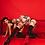 Thumbnail: Over the knee preta Love/Lust em vermelho