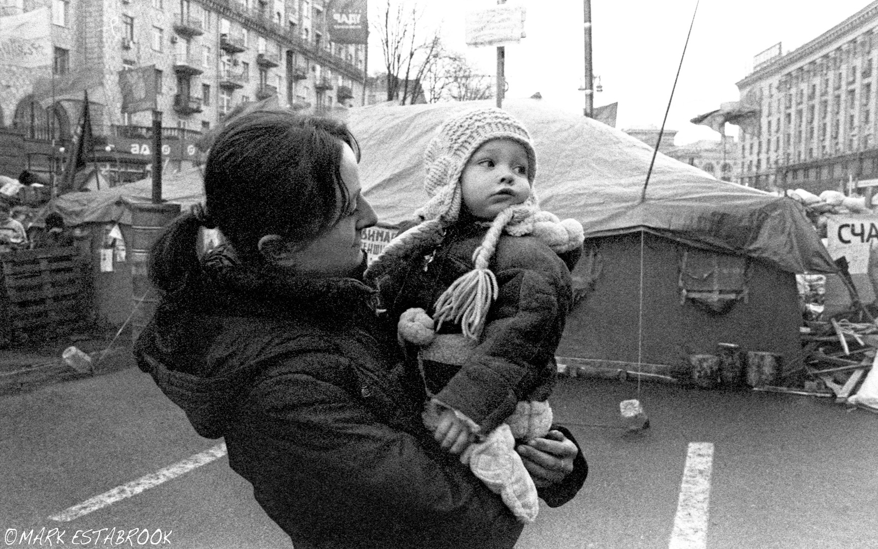 mother and young protester 7-1-8