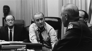 VP Hubert Humphrey and President Lyndon Johnson