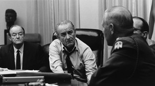 VP Hubert Humphrey and President Lyndon Johnson
