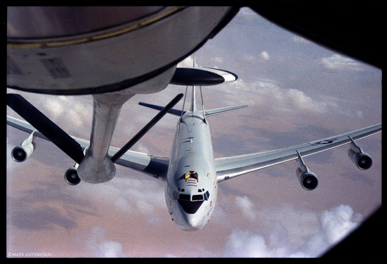 Refueling E3A AWACS 1987