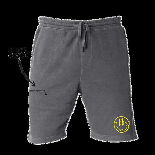 Smiley Stache Shorts - Black
