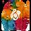 Thumbnail: Tie Dye Ghost Stache Hoodie - Multi Rainbow
