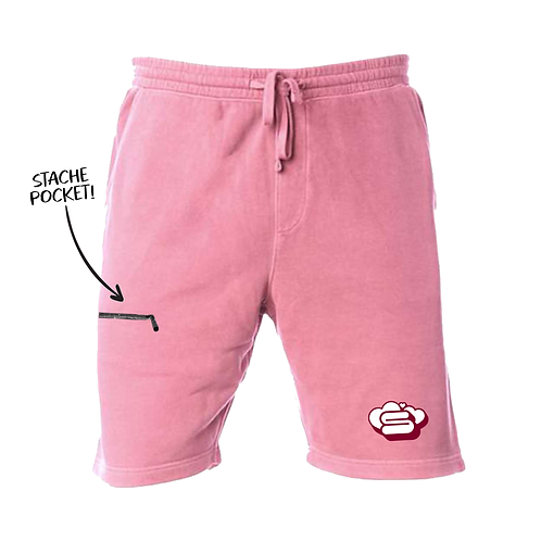 Pigment Died Hāto Stache Shorts - Pink