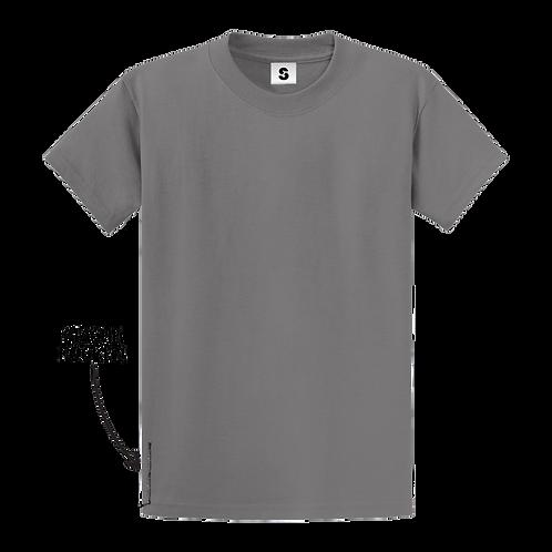 Blank Stache Tee - Grey