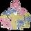 Thumbnail: Tie Dye Ghost Stache Hoodie - Sherbert