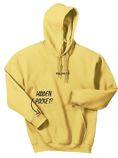 Tiny Logo Stache Hoodie - Yellow