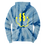 Thumbnail: Tie Dye Smiley Stache Hoodie - Blue