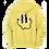 Thumbnail: Smiley Stache Hoodie - Yellow