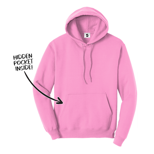 Blank Stache Hoodie - Pink
