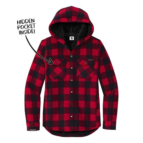 Stache Co x Eddie Bauer Women's Flannel Jacket - Red/Black