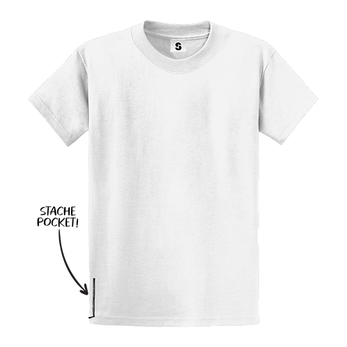 Blank Stache Tee - White