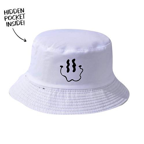 Smiley Bucket Hat - White
