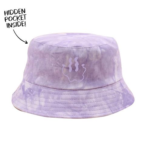 Smiley Bucket Hat - Purple Tie Dye