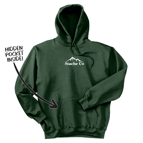 Mountain Stache Hoodie - Forest