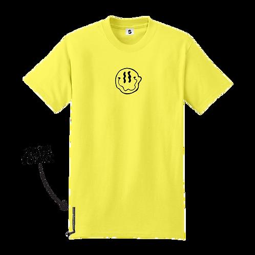 Smiley Stache Tee - Yellow