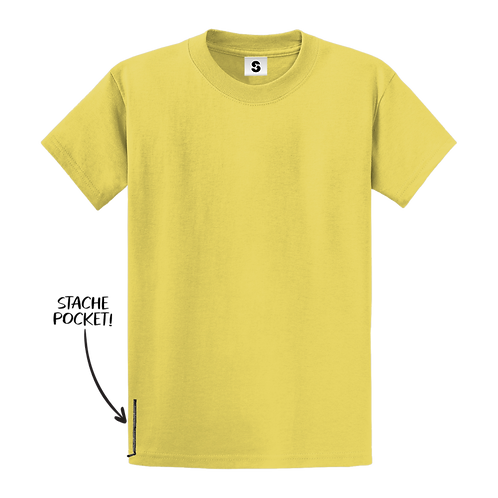 Blank Stache Tee - Yellow