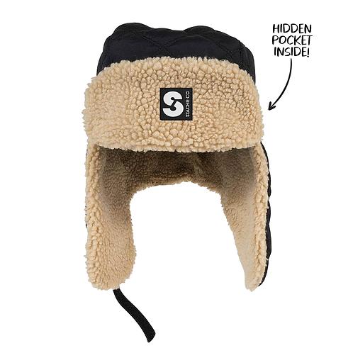 Stache Trapper Hat - Black