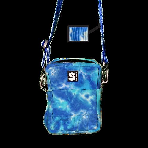 Upcycled Hoodie Crossbody Bag - Blue Ice