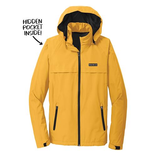 Stache Co Waterproof Rain Jacket - Yellow