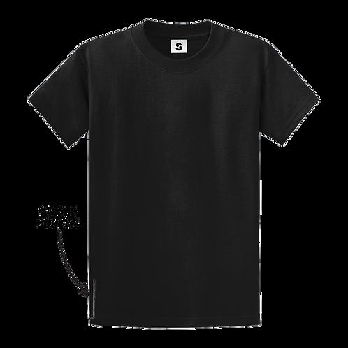 Blank Stache Tee - Black