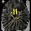 Thumbnail: Tie Dye Smiley Stache Hoodie - Black