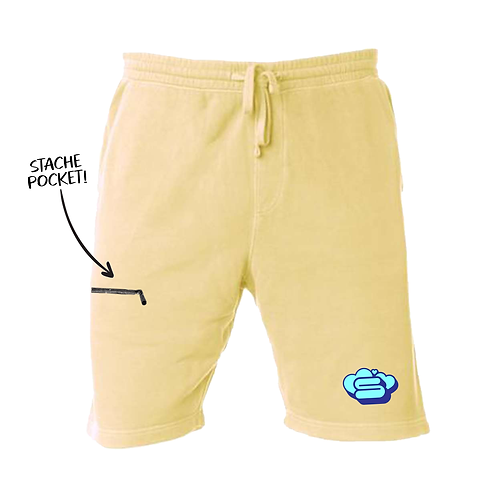 Pigment Died Hāto Stache Shorts - Yellow