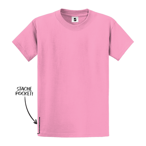 Blank Stache Tee - Pink