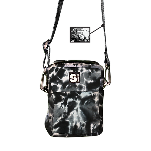 Upcycled Hoodie Crossbody Bag - Black Ice