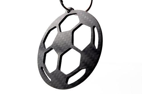 Soccer ball, 100% Carbon Fibre Keychain