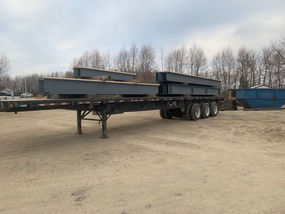 Load of beams ready to be shipped