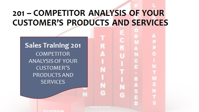 201 Competitor Analysis Of Your Customer's Products and Services