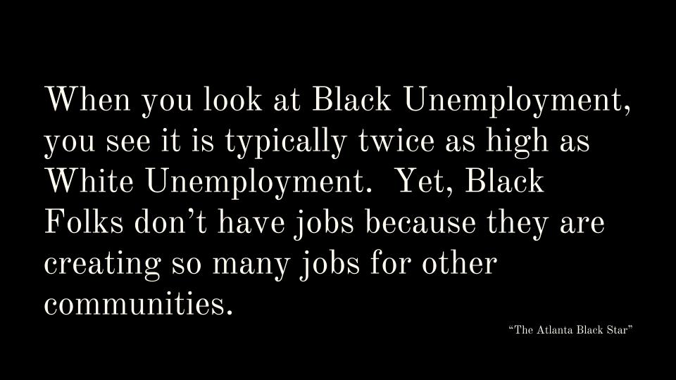 Black High Unemployment Rates