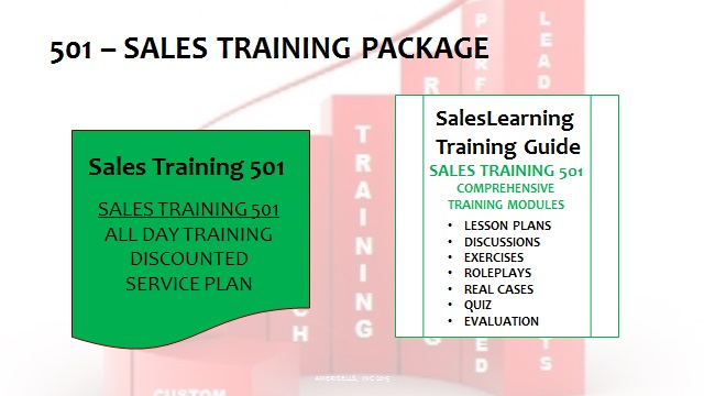 501 Sales Training Package