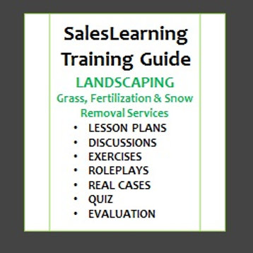TRAINING MANUAL - Landscaping Sales Professionals