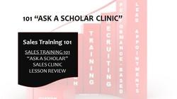 101 Ask A Scholar Clinic