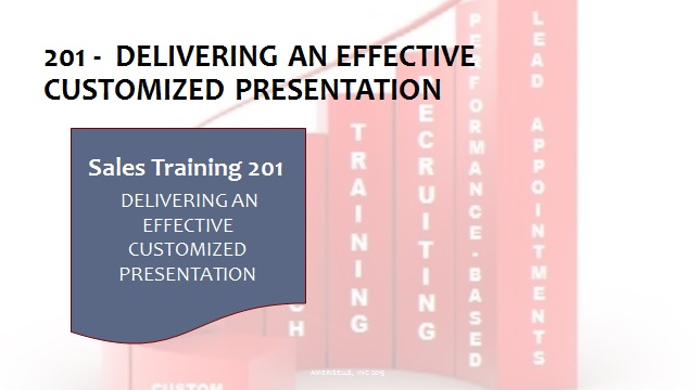 201 Delivering An Effective Customized Presentation