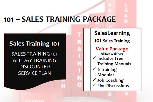 PACKAGE - Sales Training 101 - Free Manuals