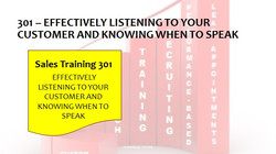 301 Effectively Listening to your Customer