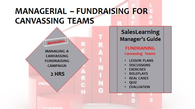 Managerial Fundraising For Canvassing Teams