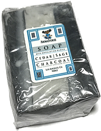Aroma Stories Cedar Sage Lava & Charcoal Soap