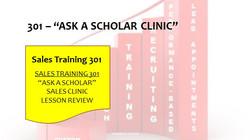 301 Ask A Scholar Clinic