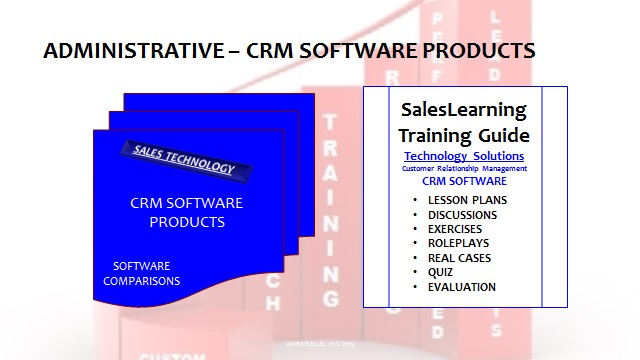 Administrative Maximizing CRM Software Product Comparisons