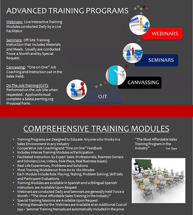 SalesLearning Customized Training Service Package