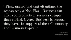 Why Don't Blacks Support BOB's