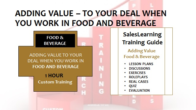 Adding Value Food and Beverage