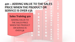 401 Adding Value To The Sales Price when the Product or Service is Over 3K