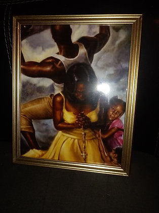 Black Family Pressures By JT Art Gallery